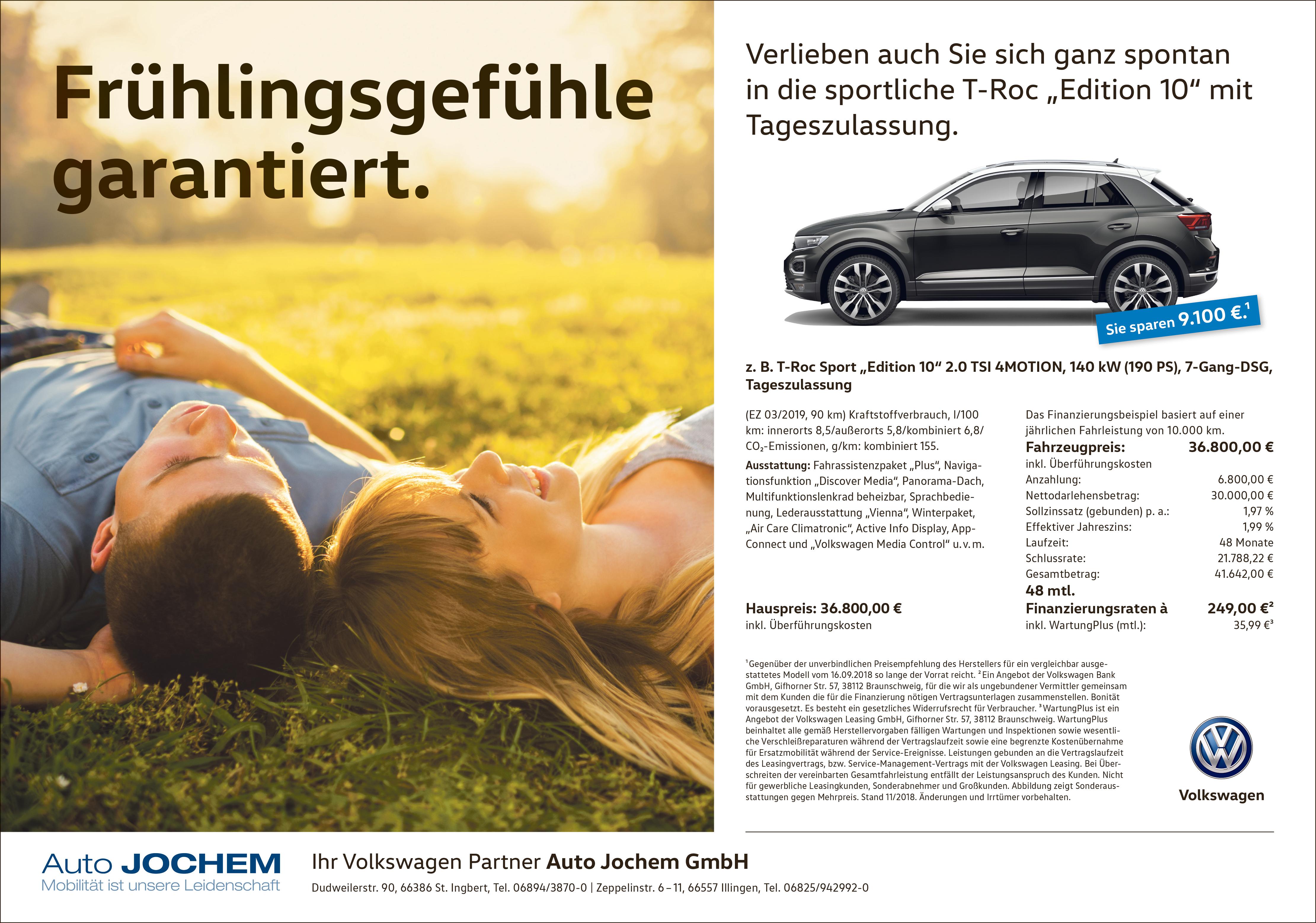 VW T-Roc Edition 10 Auto Jochem
