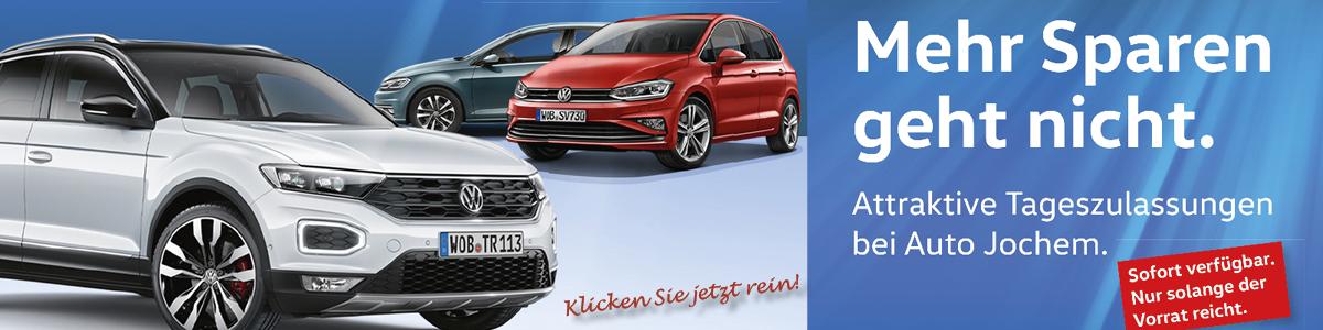 VW Tageszulassungen bei Auto Jochem