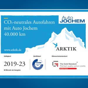 ARKTIK - CO2-neutrales Autofahren mit Auto Jochem