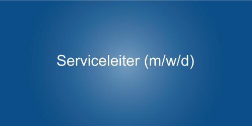 Stellenangebot - Serviceleiter bei Auto Jochem