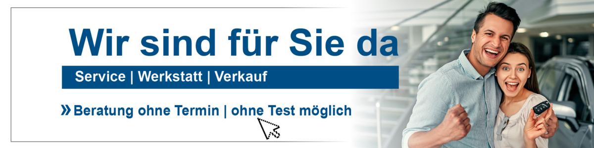 Wir sind da - Service, Werkstatt und Verkauf bei Auto-Jochem GmbH